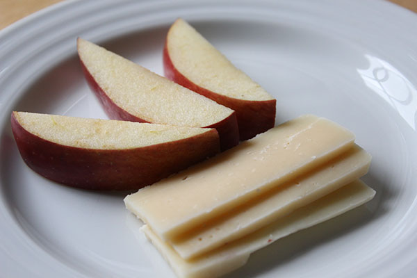 <strong>Apples and Cheese</strong><br> Try a hard cheese with your apples such as Parmesan or Gruyere.